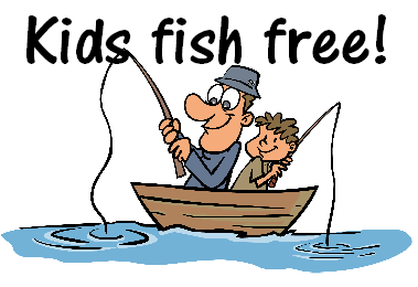 Kids fish for free branson fishing guide service for Free fishing license for veterans